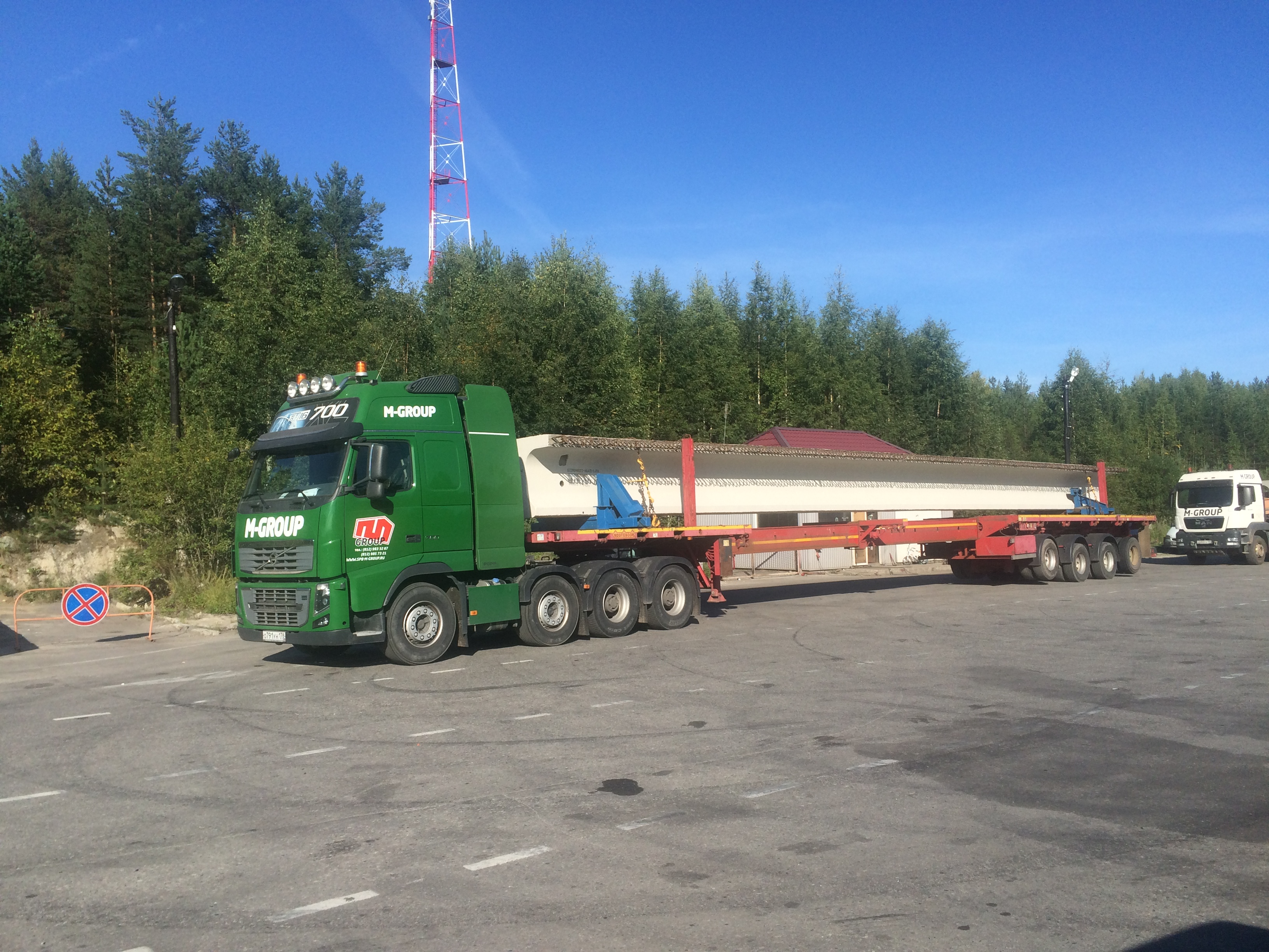 Перевозка мостовых балок